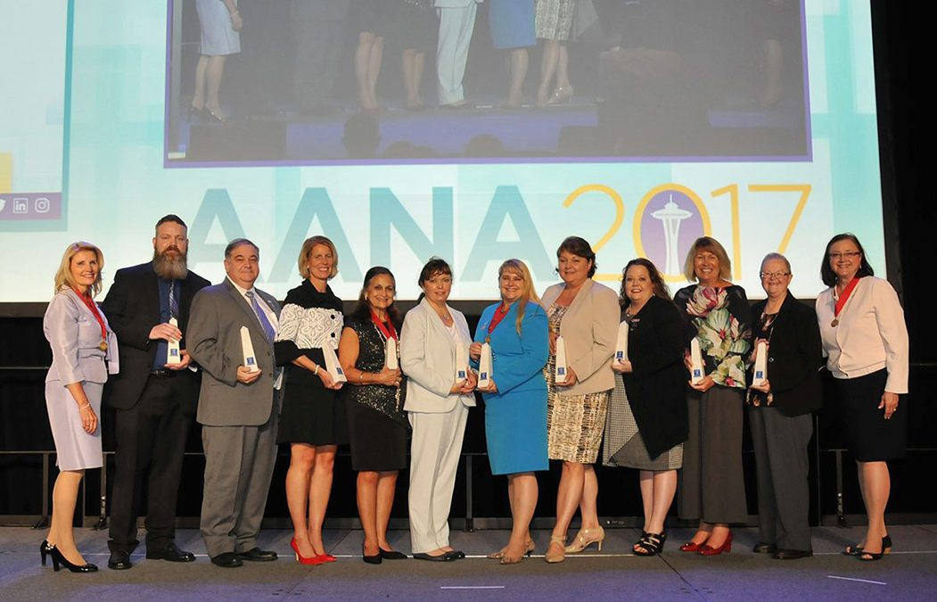 AANA presents Moody and team with researcher of the year award