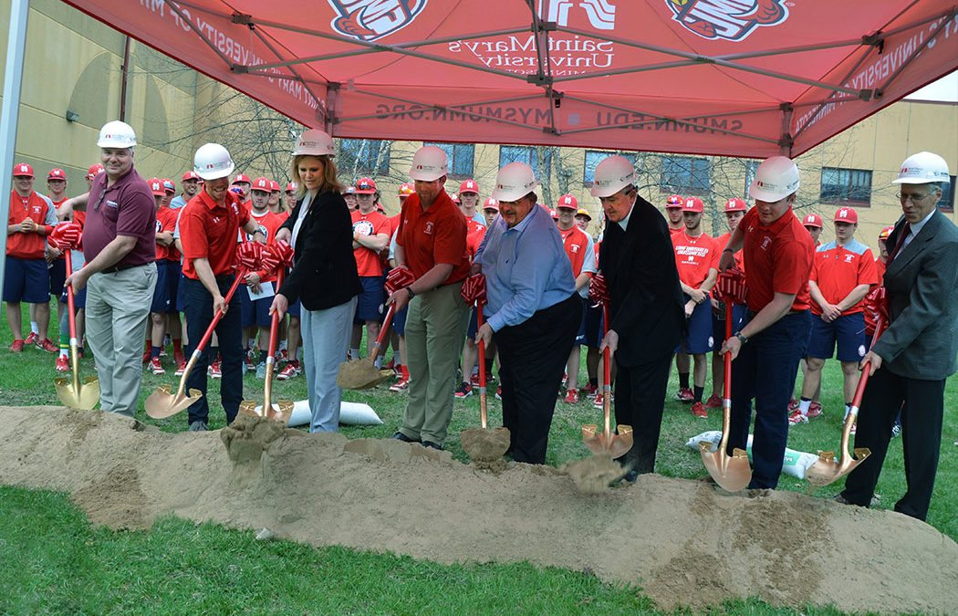 Saint Mary's breaks ground on new baseball clubhouse