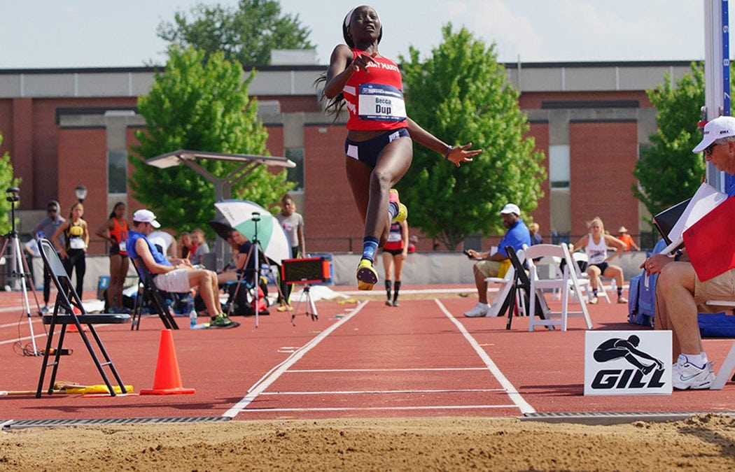 Dup places 11th in NCAA long jump