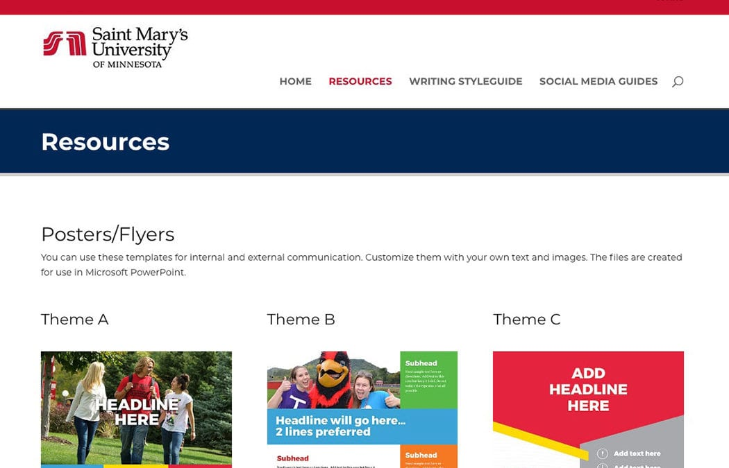 Marketing and Communication unveils new resources