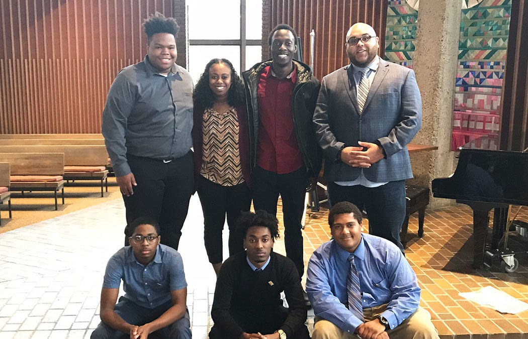 Students and staff attend Kente Summit for Collegiate Black Men