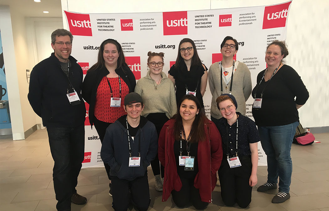 Theatre students attend USITT conference