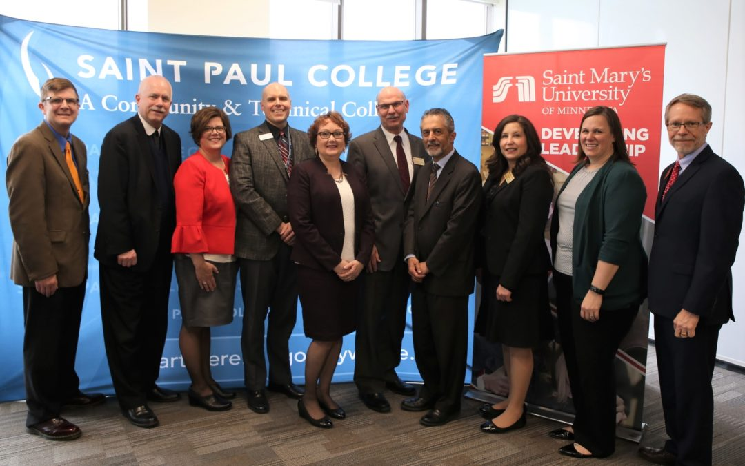 Saint Mary's University renews partnership with Minnesota community colleges