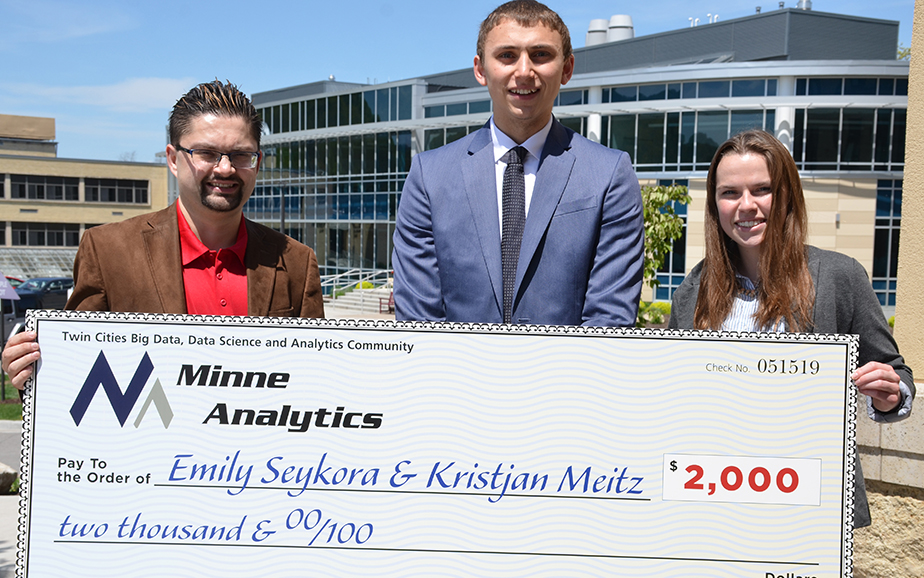 Saint Mary's students awarded scholarships from MinneAnalytics