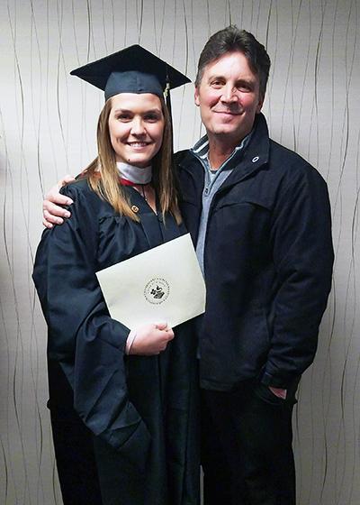 Blair Honsey masters graduation psychology