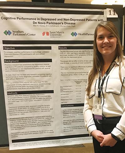 Blair Honsey Parkinson's disease research poster neuropspychology