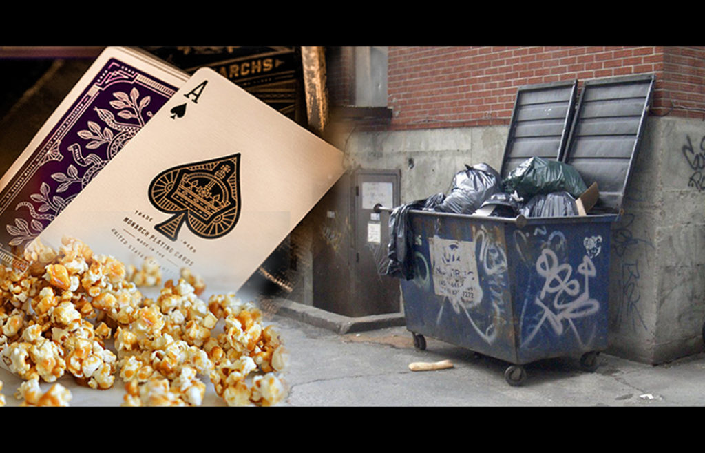 "The radio program ""Our American Stories"" created the above graphic to accompany Paul Kotz story, ""Playing Cards in a Dumpster,"" which aired on Jan. 29."