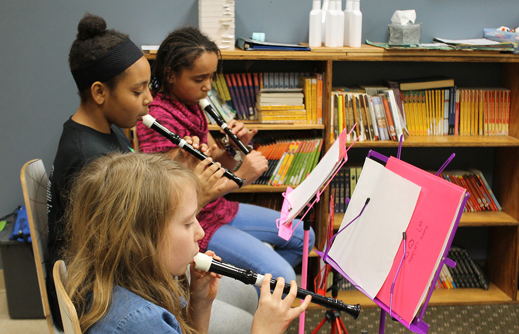 MCA forms Recorder Choir with Riverway Learning Community students