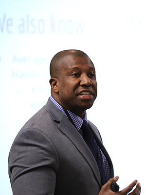 Dr. Shawn Williams served as a police officer for 17 years, including time with the Minneapolis and Bloomington police departments in Minnesota.