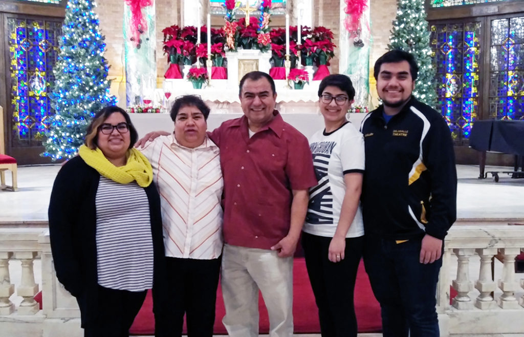 This is a photo of Carla Guillen and her family.