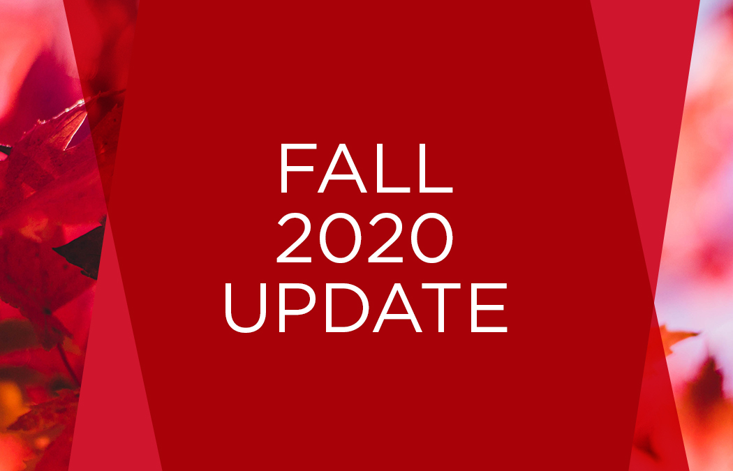 Plans for fall 2020