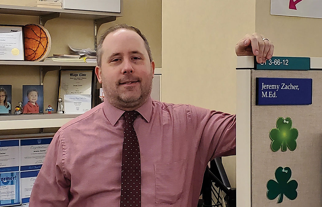 Heroes on the front lines-Zacher's work vital to COVID testing and treating at Mayo Clinic