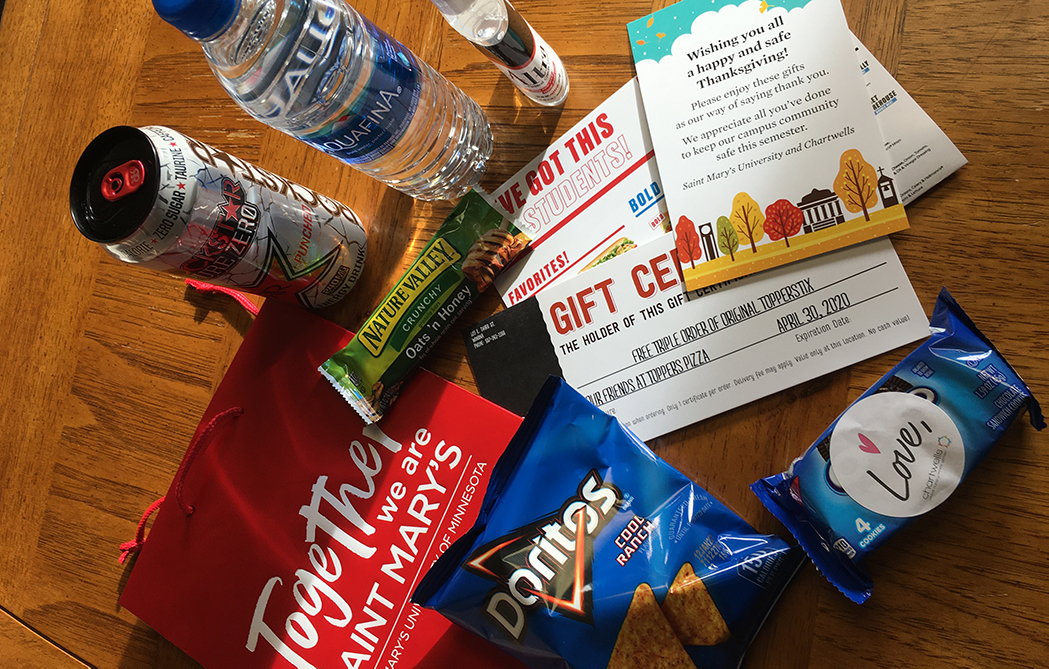 Thank-you bags distributed to Winona students