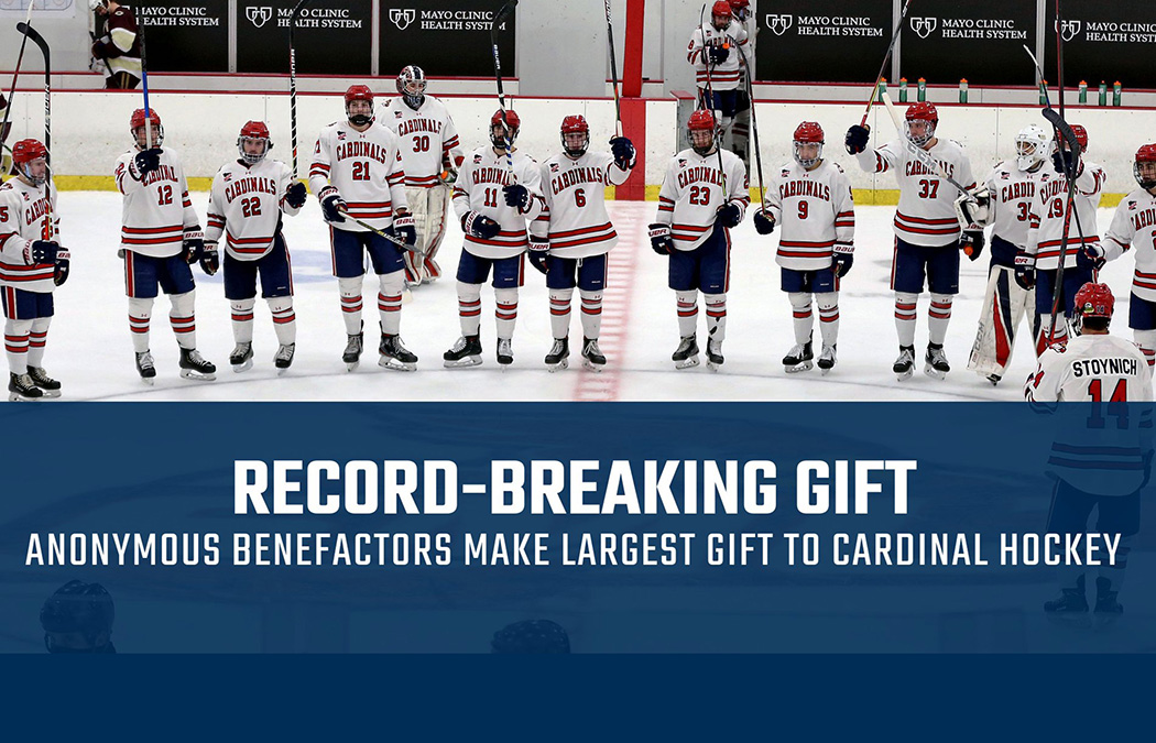Anonymous benefactors make largest gift to Saint Mary's University Cardinal hockey